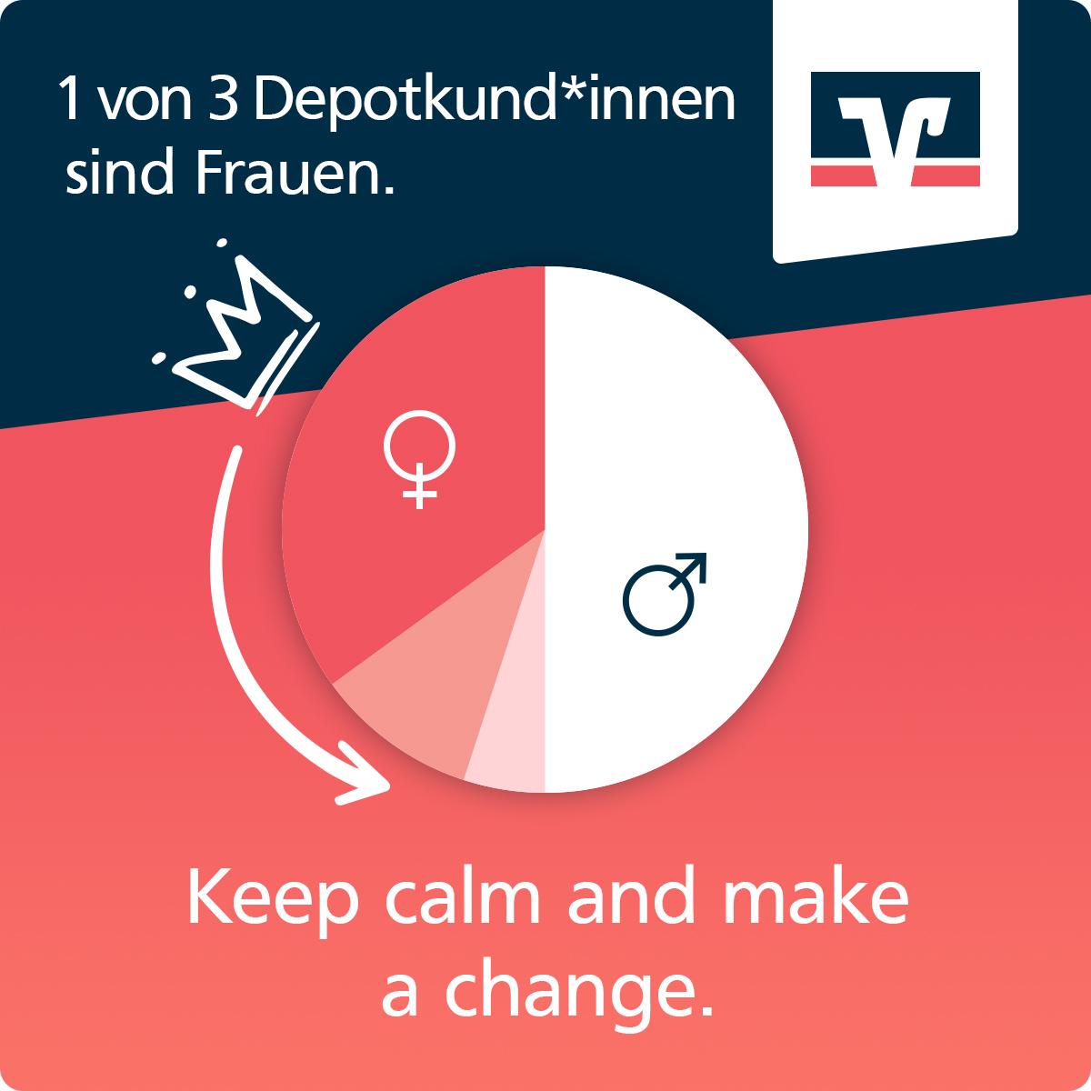 1 von 3 Depotkunden*innen sind Männer. Keep Calm and make a change