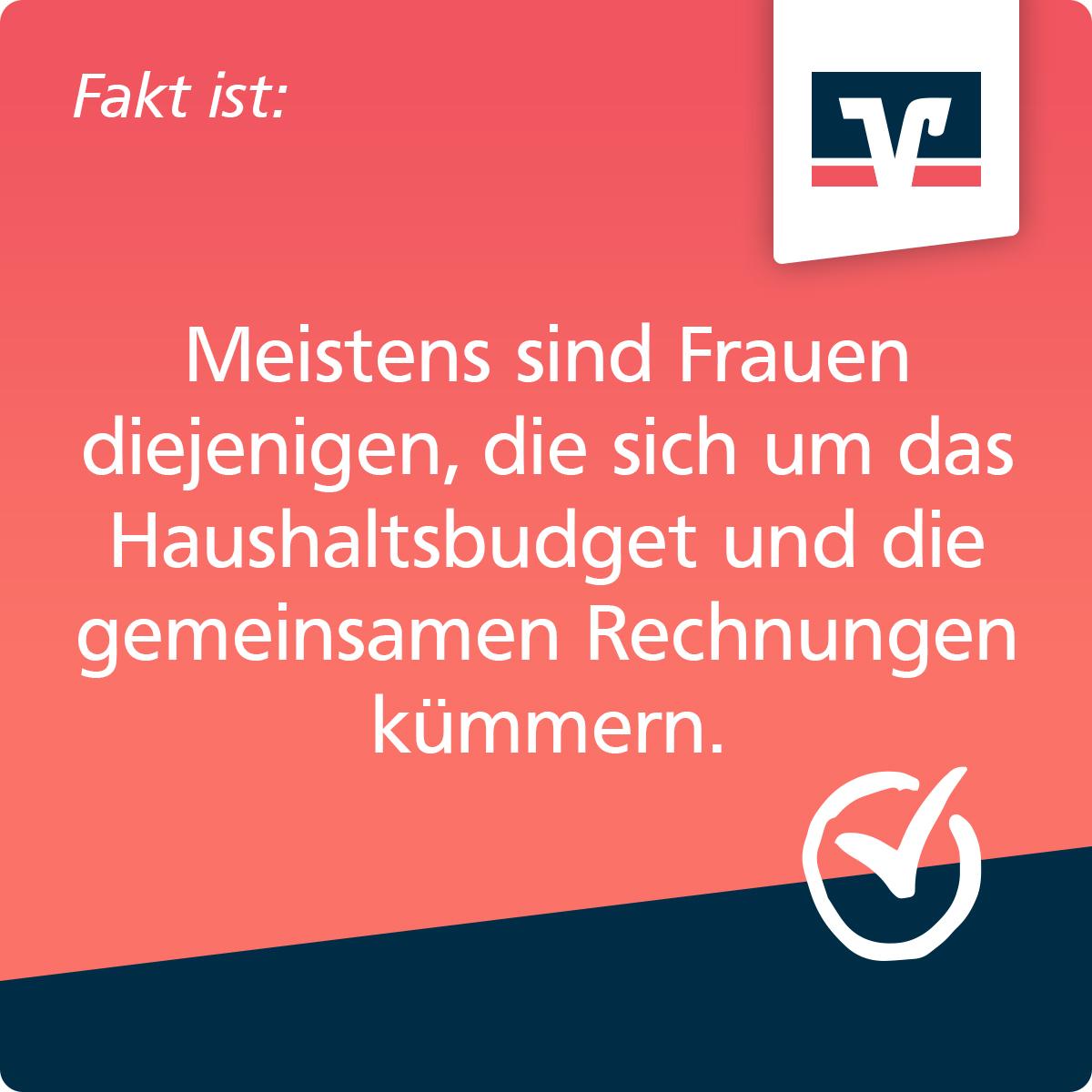"""Zukunftsplanerin-Kachel """"Rechnungen"""": Fakt ist: Meistens sind Frauen diejenigen, die sich um das Haushaltsbudget und die gemeinsamen Rechnungen kümmern"""